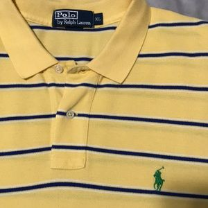 Polo Ralph Lauren XL STRIPE shirt New yellow blue